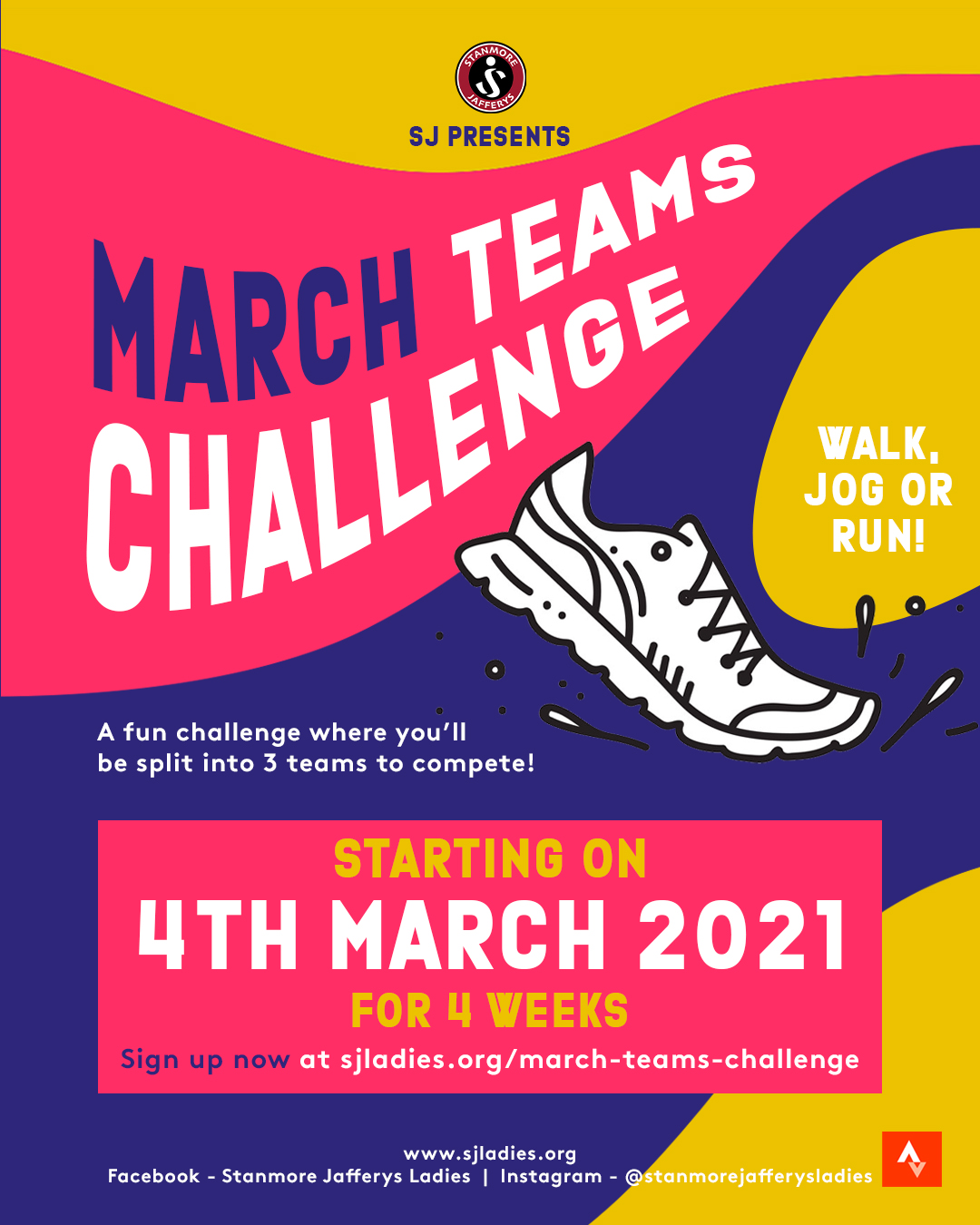 Running – March 2021 Teams Challenge