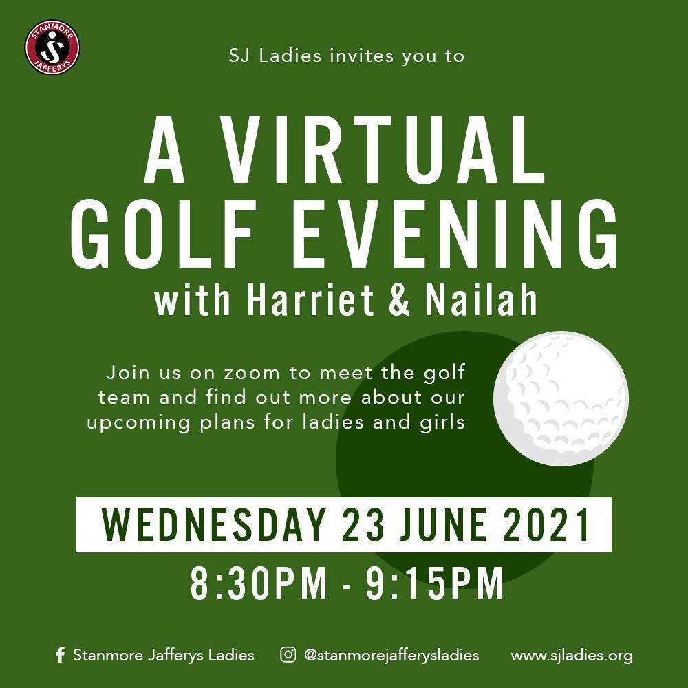 SJ Ladies Virtual Golf Evening with Harriet & Nailah