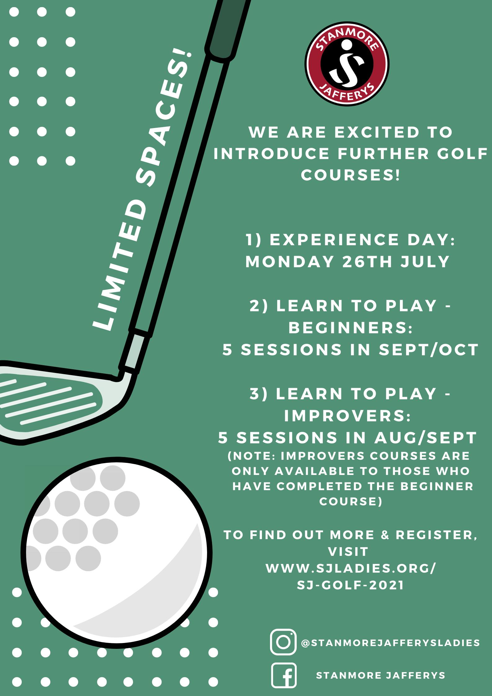 Golf Lessons 2021